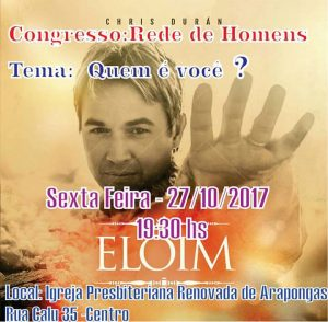 Congresso Rede de Homens - Cris Duran @ Igreja Presbiteriana Renovada Central