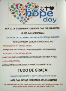 Hope Day - Sabáudia @ Projeto Crescer Melhor