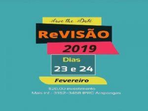 REVISÃO 2019 @ I IGREJA PRESBITERIANA RENOVADA CENTRAL