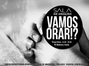 Sala de Oração com Pr. Roberto e Pra. Carla @ I IGREJA PRESBITERIANA RENOVADA CENTRAL